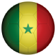 Senegal Football Flag 58mm Keyring